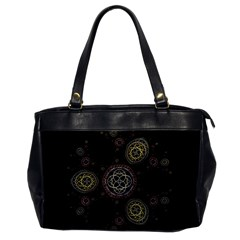 Background Pattern Symmetry Office Handbags