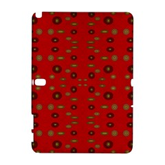 Brown Circle Pattern On Red Galaxy Note 1 by BrightVibesDesign