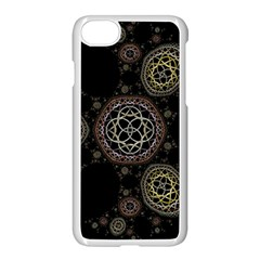 Background Pattern Symmetry Apple Iphone 8 Seamless Case (white)