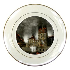 Destruction Apocalypse War Disaster Porcelain Plates