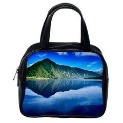 Mountain Water Landscape Nature Classic Handbags (one Side) by Celenk