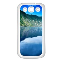 Mountain Water Landscape Nature Samsung Galaxy S3 Back Case (white) by Celenk
