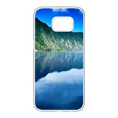 Mountain Water Landscape Nature Samsung Galaxy S7 Edge White Seamless Case