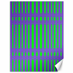 Bright Green Purple Stripes Pattern Canvas 36  X 48   by BrightVibesDesign