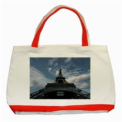 Eiffel Tower France Landmark Classic Tote Bag (red)
