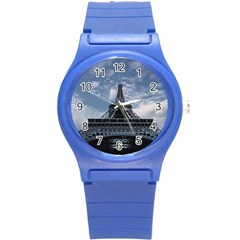 Eiffel Tower France Landmark Round Plastic Sport Watch (s) by Celenk