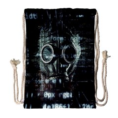 Gas Mask Contamination Contaminated Drawstring Bag (large) by Celenk