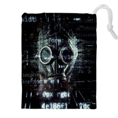 Gas Mask Contamination Contaminated Drawstring Pouches (xxl) by Celenk