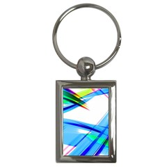 Lines Vibrations Wave Pattern Key Chains (rectangle)