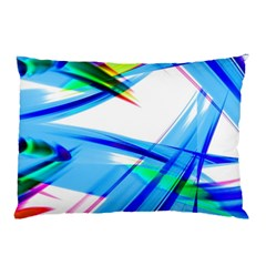 Lines Vibrations Wave Pattern Pillow Case (two Sides)