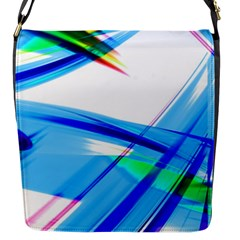 Lines Vibrations Wave Pattern Flap Messenger Bag (s)