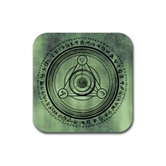 Rune Geometry Sacred Mystic Rubber Coaster (square)