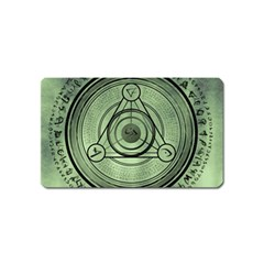 Rune Geometry Sacred Mystic Magnet (name Card) by Celenk