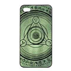 Rune Geometry Sacred Mystic Apple Iphone 4/4s Seamless Case (black) by Celenk