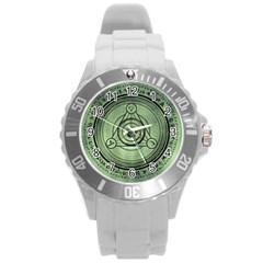 Rune Geometry Sacred Mystic Round Plastic Sport Watch (l) by Celenk