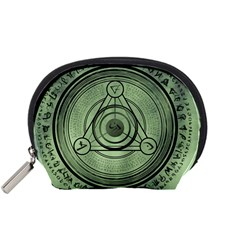 Rune Geometry Sacred Mystic Accessory Pouches (small)  by Celenk