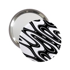Black And White Wave Abstract 2 25  Handbag Mirrors