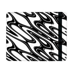 Black And White Wave Abstract Samsung Galaxy Tab Pro 8 4  Flip Case