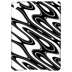 Black And White Wave Abstract Apple Ipad Pro 9 7   Hardshell Case by Celenk