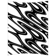 Black And White Wave Abstract Back Support Cushion