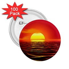 Sunset Ocean Nature Sea Landscape 2 25  Buttons (100 Pack)  by Celenk