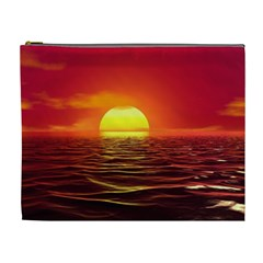 Sunset Ocean Nature Sea Landscape Cosmetic Bag (xl)