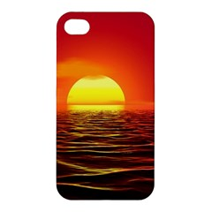 Sunset Ocean Nature Sea Landscape Apple Iphone 4/4s Premium Hardshell Case by Celenk