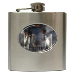 Destruction Apocalypse War Disaster Hip Flask (6 Oz) by Celenk