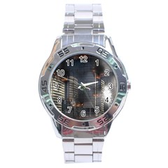 Destruction Apocalypse War Disaster Stainless Steel Analogue Watch by Celenk