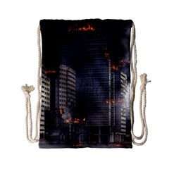 Destruction Apocalypse War Disaster Drawstring Bag (small)