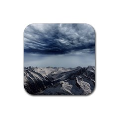 Mountain Landscape Sky Snow Rubber Coaster (square)
