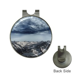 Mountain Landscape Sky Snow Hat Clips With Golf Markers