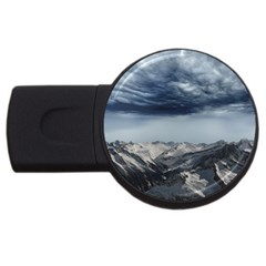 Mountain Landscape Sky Snow Usb Flash Drive Round (4 Gb)