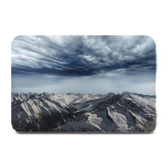 Mountain Landscape Sky Snow Plate Mats by Celenk