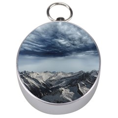 Mountain Landscape Sky Snow Silver Compasses by Celenk