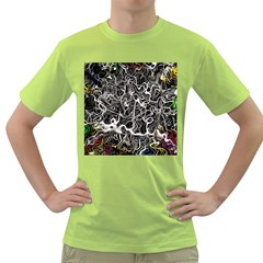Abstract Pattern Backdrop Texture Green T Shirt by Celenk