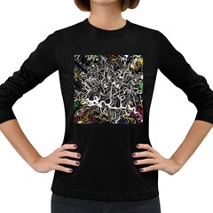 Abstract Pattern Backdrop Texture Women s Long Sleeve Dark T Shirts