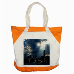 New York America New York Skyline Accent Tote Bag by Celenk