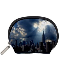 New York America New York Skyline Accessory Pouches (small)  by Celenk