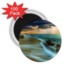 Beach Shore Sand Coast Nature Sea 2 25  Magnets (100 Pack)  by Celenk