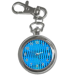 Sharp Blue And Black Wave Pattern Key Chain Watches by Celenk