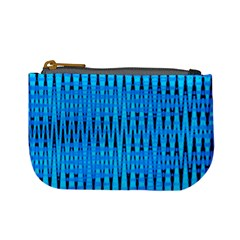 Sharp Blue And Black Wave Pattern Mini Coin Purses