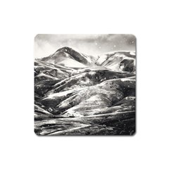 Mountains Winter Landscape Nature Square Magnet