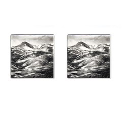Mountains Winter Landscape Nature Cufflinks (square) by Celenk