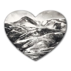 Mountains Winter Landscape Nature Heart Mousepads by Celenk