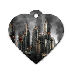 Armageddon Disaster Destruction War Dog Tag Heart (one Side)