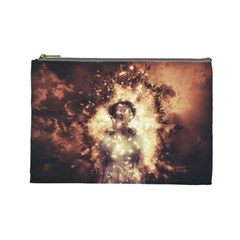Science Fiction Teleportation Cosmetic Bag (large)  by Celenk