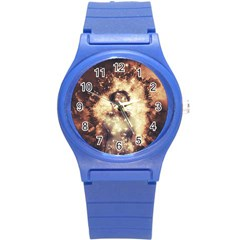 Science Fiction Teleportation Round Plastic Sport Watch (s) by Celenk