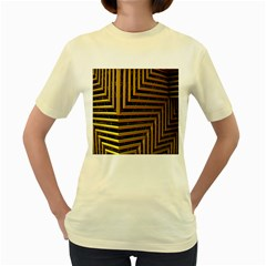Modern Art Sculpture Architecture Women s Yellow T Shirt