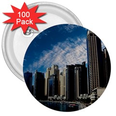 Skyscraper City Architecture Urban 3  Buttons (100 Pack)  by Celenk